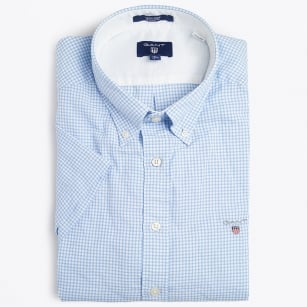 | Tech Prep Check Short Sleeved Shirt - Lavender Blue