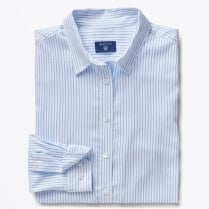 - Tech Prep Oxford Striped Shirt - Capri Blue