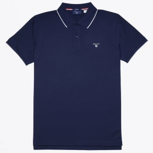| Tech Prep Polo Shirt - Shadow Blue