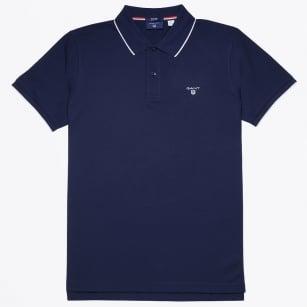   Tech Prep Polo Shirt - Shadow Blue