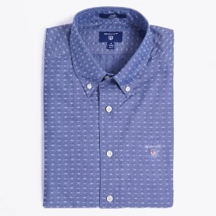 | The Dobby Star Fitted Shirt - Persian Blue