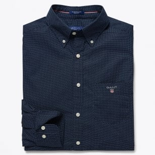 | The Printed Broadcloth Shirt - Navy Blue