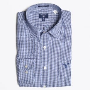 - Winter Gingham Shirt - Yale Blue