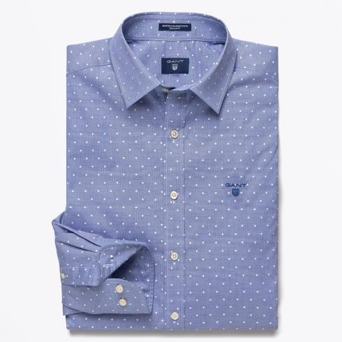 Gant - Winter Houndstooth Shirt - Capri Blue