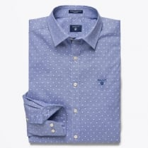 - Winter Houndstooth Shirt - Capri Blue