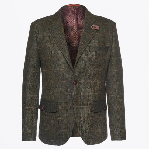 Gibson - 3 Button Tweed Blazer - Green