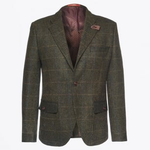 | 3 Button Tweed Blazer - Green