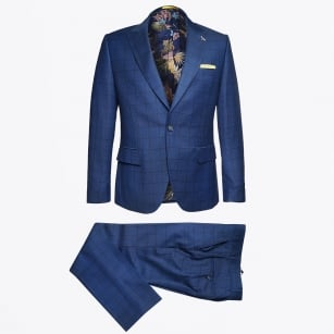 | Check Suit - Blue/Navy