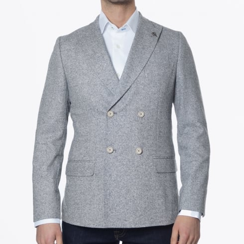 Gibson - Donegal Double Breasted Blazer - Grey