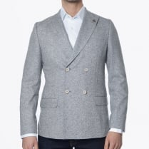 - Donegal Double Breasted Blazer - Grey