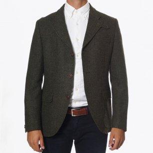 | Herringbone Tweed Jacket - Green