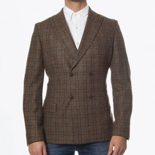 | Sage Green Check Blazer | Double Breasted