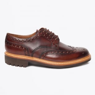 - Archie Hand Painted Brogues - Dark Brown