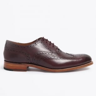 | Dylan Calf Leather Brogue - Burgundy