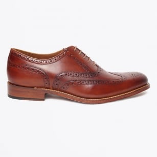 - Dylan Hand Painted Brogues - Tan