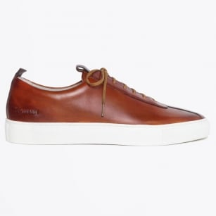 | Leather Sneakers - Tan