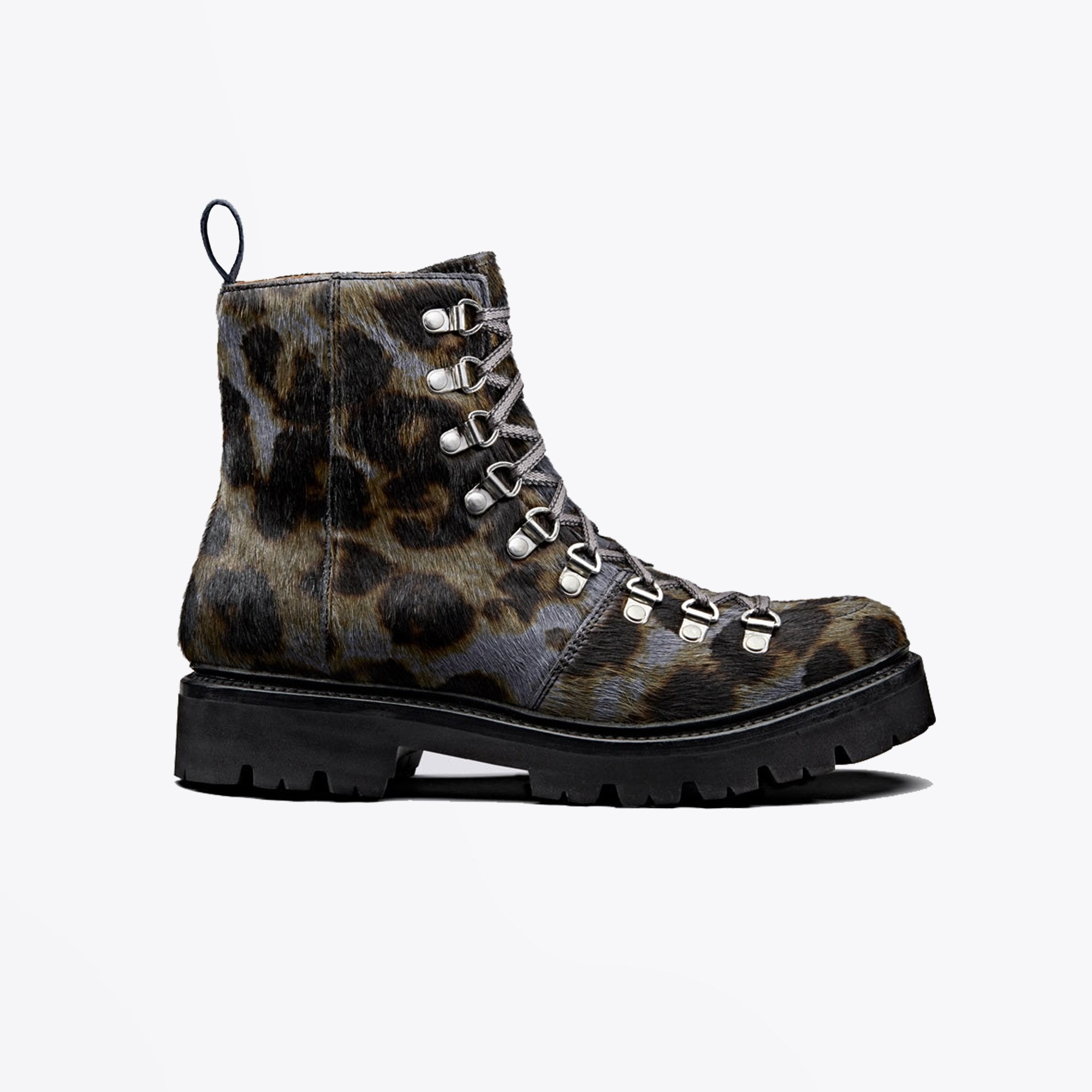 grey leopard boots