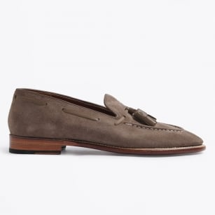 | Scottie Suede Loafer - Almond