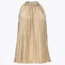 - Pleated Gold Halter Neck Top