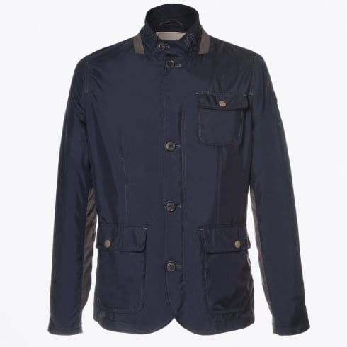 - Baxter Contrast Arm Detail Jacket - Dark Blue
