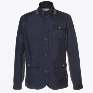 | Baxter Contrast Arm Detail Jacket - Dark Blue