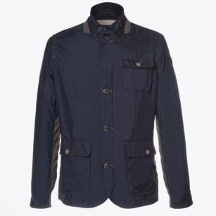 | Baxter Contrast Arm Detail Jacket - Dark Blue