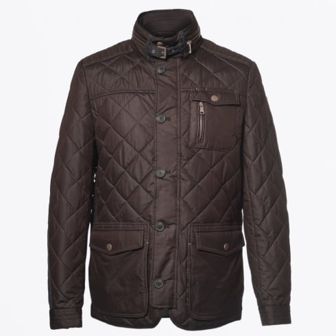 Handstich - Kent Quilted Elbow Detail Coat - Expresso