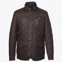- Kent Quilted Elbow Detail Coat - Expresso