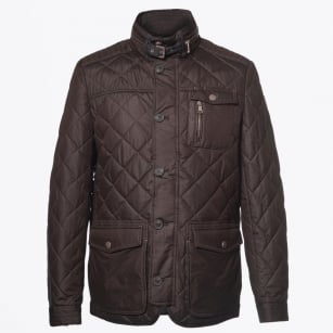 | Kent Quilted Elbow Detail Coat - Expresso