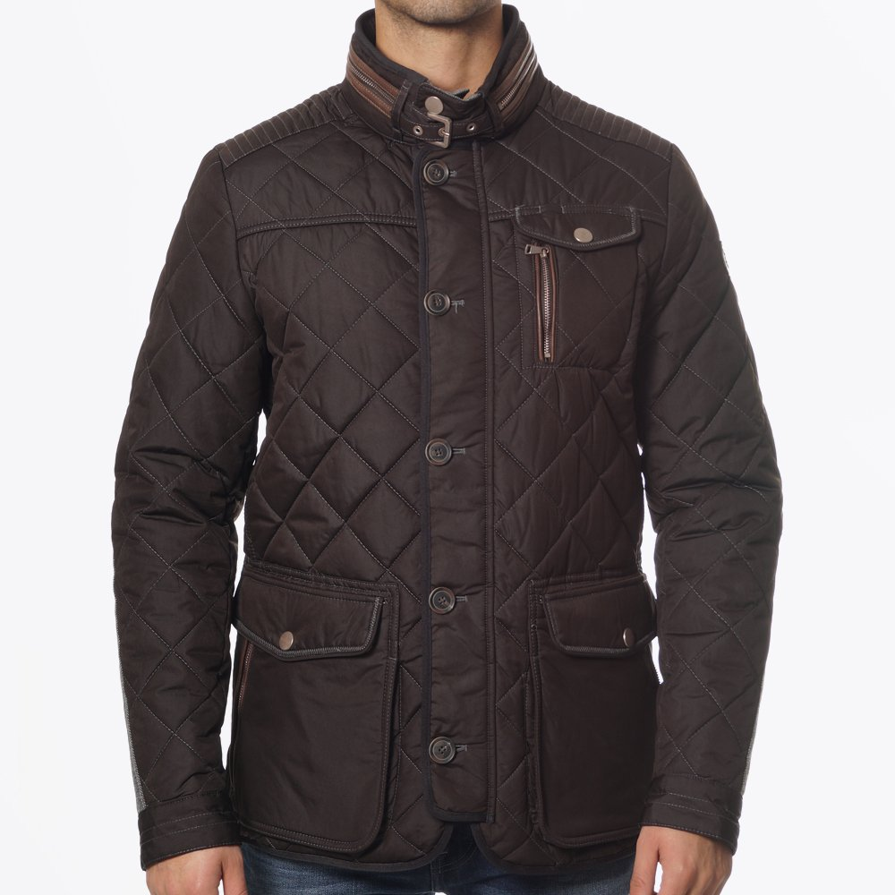 Kent Jacket - Brown | Mens Quilted Coat | Handstich