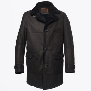 | Mercer Shearling & Leather Coat - Slate