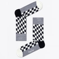 - Filled Optic Socks - Grey/Black