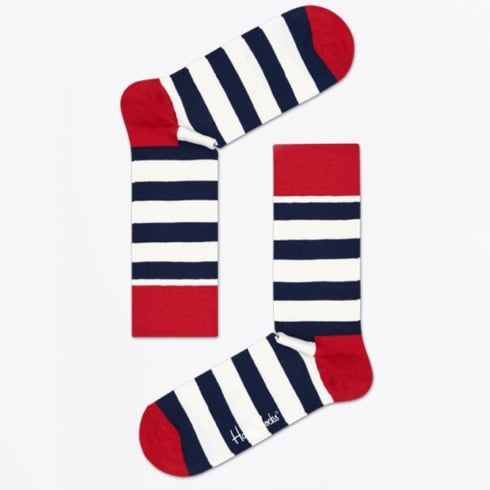 Happy Socks - Stripe Socks - Navy/White