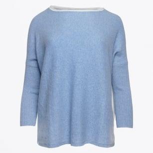 | Contrast Back Knit - Sky Blue