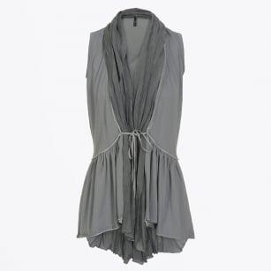 | Adept Sleeveless Pleat Back Waistcoat - Grey