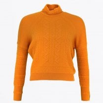 - Announce - Knitted Funnel Neck Jumper - Orange