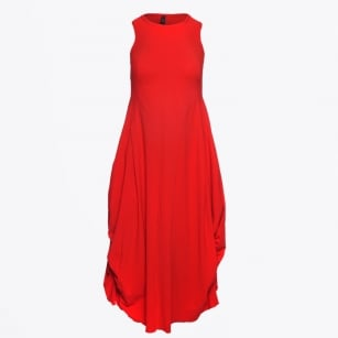 | At Length - Low Maintenance Dress -Red