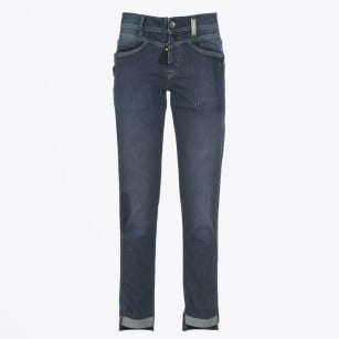 "| Call-me - Faded ""ticking stripe"" Slim Leg Jeans"