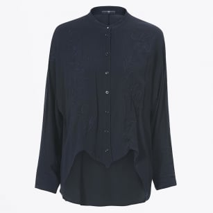 - Calla Hi-low Hem Shirt - Navy