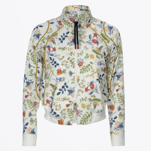HIGH - Doting Floral Bomber Jacket - Cream