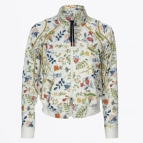 - Doting Floral Bomber Jacket - Cream