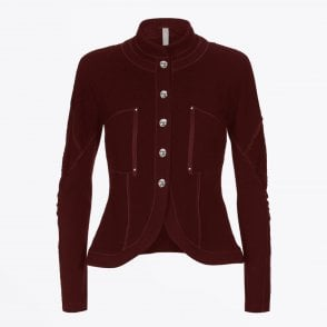 - Frisk - Knitted Jacket - Maroon