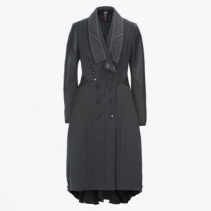 - Literate Swing Coat - Dark Grey