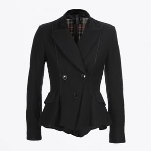 | Ruskin Riding Jacket With Turn Back Revers - Black