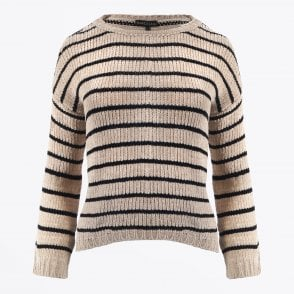 - Chenille Striped Jumper - Cream