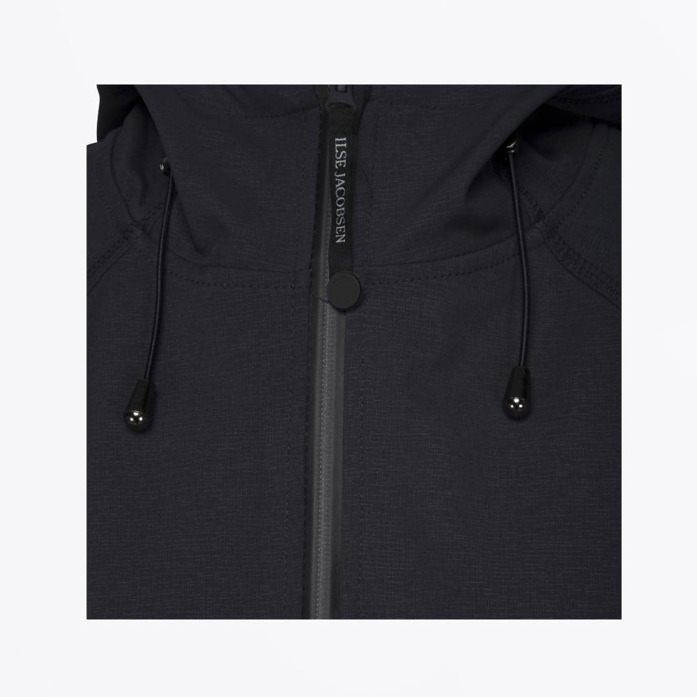 bc960214f72d Long Soft Shell Raincoat - Indigo | Womens Raincoats | Ilse Jacobsen