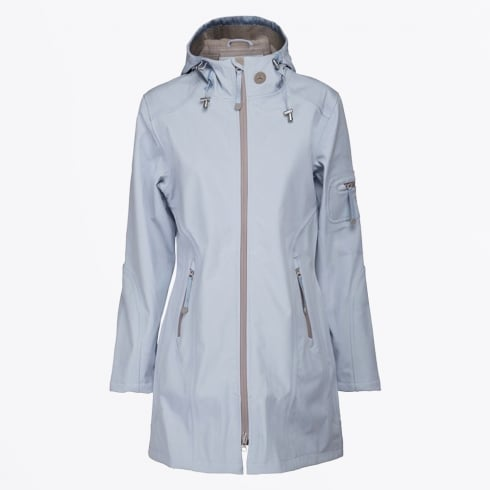 Ilse Jacobsen - Rain 07B Blue Hooded Raincoat