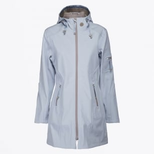 - Rain 07B Blue Hooded Raincoat