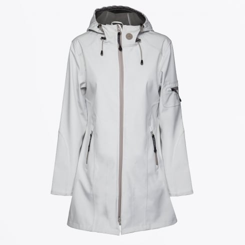 Ilse Jacobsen - Rain 07B Milk Creme/Atmosphere Hooded Raincoat