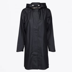 | Rain 71 - Oversize Hooded Mac - Dark Indigo